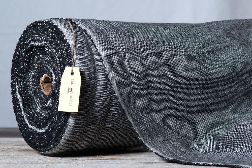 m belstoff schwarz wei 100 organic cotton 0 5m schnittmenge. Black Bedroom Furniture Sets. Home Design Ideas