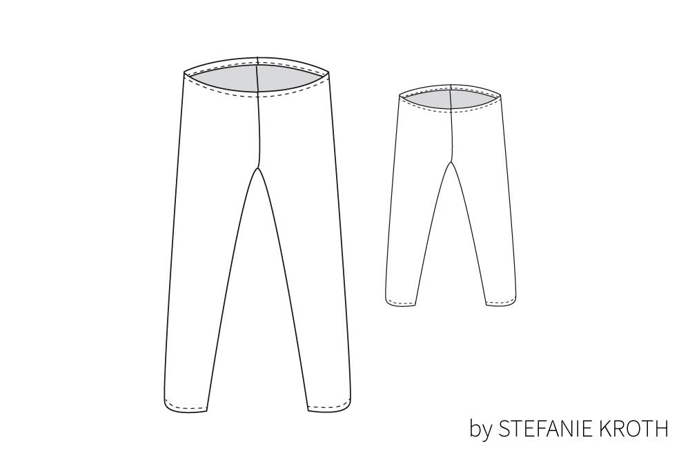 Schnittmuster Leggings Norma by STEFANIE KROTH | Schnittmenge