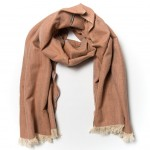 Schal aus Herringbone zeigelrot