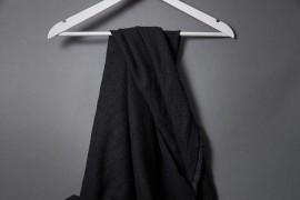Leinen mit Bourette Seide schwarz 01